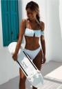 White Crop 2-in-1 Fashion Swimwear