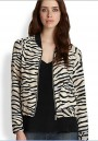 Multicolor Patchwork Zebra Striped Print Pockets Trench Coat