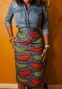 Multicolor Floral Print High Waisted Fashion Midi Skirt