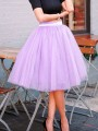 Pink Patchwork Grenadine Pleated Fluffy Puffy Tulle Homecoming Party Skirt