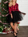 Black Grenadine Fluffy Puffy Tulle High Waisted New Year's Eve Party Skirt