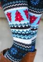 Multicolor Floral Print Elastic Waist Fashion Christmas Long Leggings