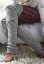 Light Grey Bow Short Casual Legging