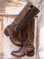 Brown Round Toe Fashion Mid-Calf Boots