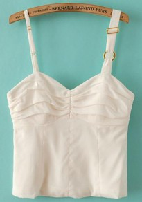White Plain Sleeveless Vest