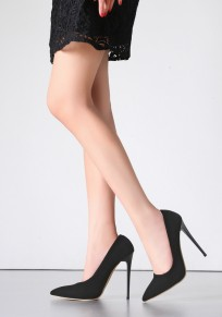 Black Point Toe Stiletto Fashion Ankle High-Heeled Shoes