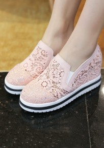 Pink Round Toe Within The Higher Casual Shoes