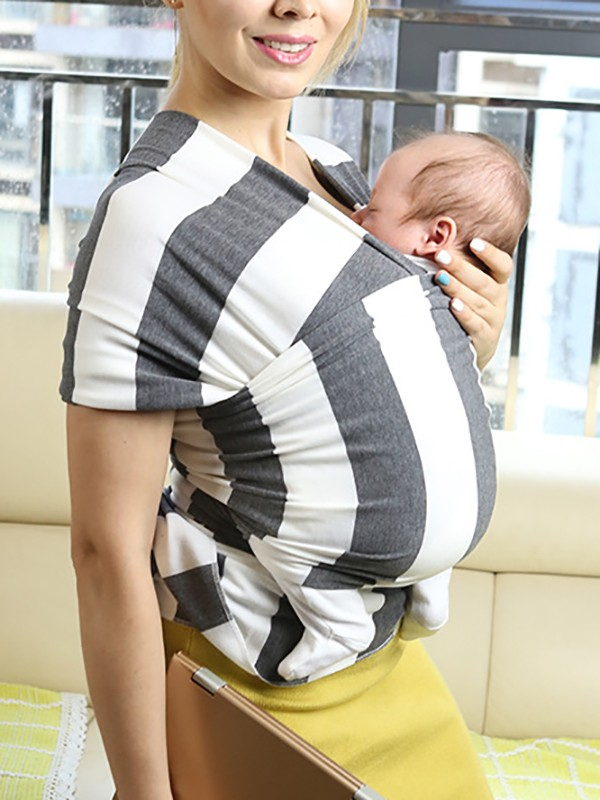 Grey Striped Knot Round Neck Sleeveless Casual Maternity Vest Maternity Vests Women S Maternity