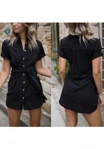 Blusa pecho fajas cuello de turbante moda negro