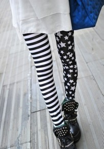 Stripe And Star Print High Elasticity Women's Nine's Fashion Legging