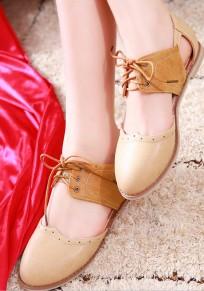 Sandali con punta arrotondata allacciatura casualee alla caviglia albicocca