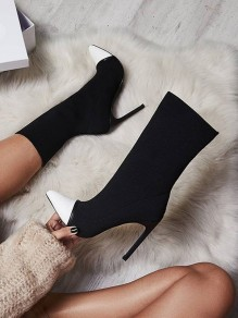 White Point Fashion High-Heeled Boots