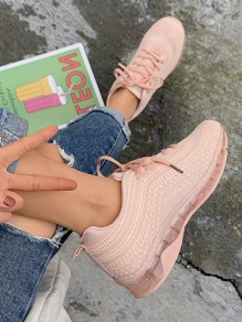 Chaussures bout rond plat mode rose