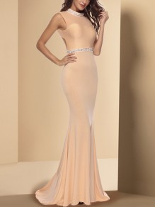 Champagne Print Fashion One Piece Cocktail Party Maxi Dress