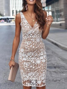 White Patchwork Sequin Bodycon Sparkly Prom Evening Party Maxi Dress