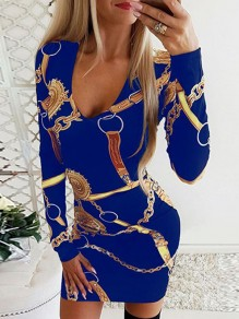 Blue Print Fashion Sweet Comfy One Piece mini dress