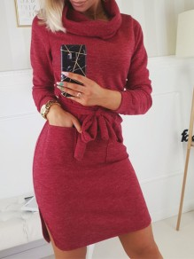 Red Fashion One Piece Casual mini dress