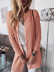 Pull poitrine moulante manches longues sortir rose