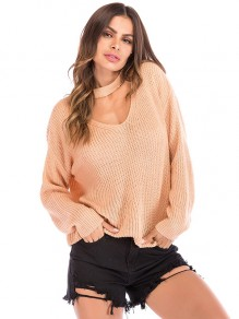 Pull col licou oversize rose