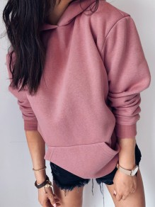 Pink Going out Comfy Fashion Round Neck T-Shirt