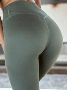 Green Yoga Comfy Push Up Big Booty Sports Legging