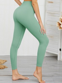 Grün High Waisted Skinny Push Up Beiläufige Yoga Lange Leggings Damen Mode