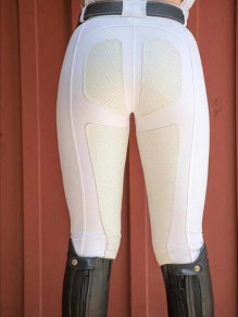 Legging poches taille haute équitation push up sports long blanc
