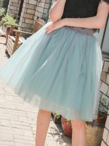 Jupe vert clair patchwork grenadine taille haute taille haute sweet party tulle tutu longueur genou