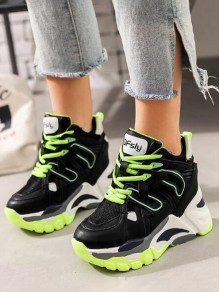 Chaussures bout rond mode casual plat noir