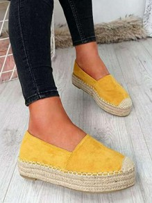 Yellow Round Toe Fashion Casual Flat Shoes