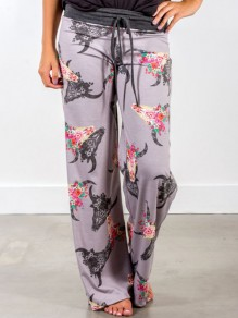 Pantalones de dormir estampado floral vintage fashion sleepwear sleep multicolor
