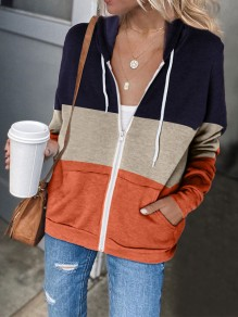 Orange Fashion Hooded Sweatshirt