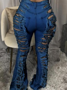 Blue Bell Bottom Lange Jeans