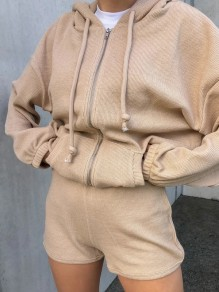 Khaki Fashion Jumpsuit