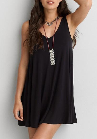 Mini-robe retour arrière drapé en arrière plus taille noir