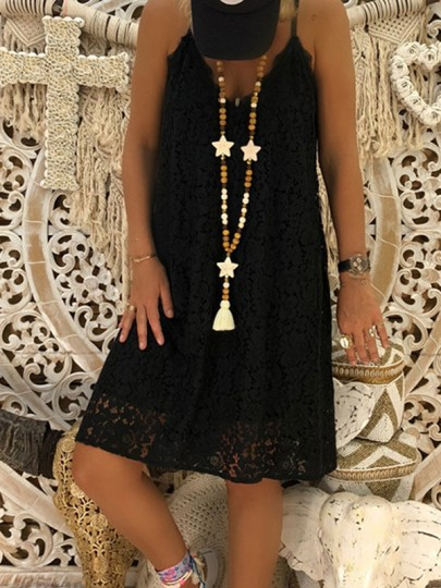 Black Fashion Comfy Going out One Piece Midi Dress