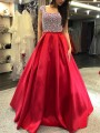 Red Sequin Print Fashion One Piece Maxi Dress