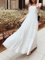 White Off Shoulder Pleated Backless Bohemian Boho Party Maxi Dress