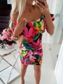 Black Floral Print Fashion Comfy One Piece mini dress