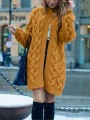 Yellow Patchwork Buttons oversize Long Sleeve Fashion Cardigan Sweater