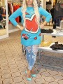 Blue Love Thanksgiving Day Clothing Long Sleeve Round Neck Casual Pullover Sweater
